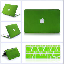 Green Quicksand Hard Case Cover+ Keyboard Skin For Macbook Air Pro 11 12 13 15''