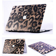 Leopard Leather Hard Case Cover Skin For Apple MacBook Air Pro 11 13 15 ''