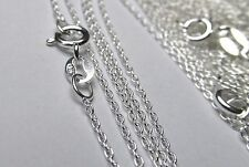 STERLING SILVER CABLE LINK CHAIN NECKLACE LOT WHOLESALE GENUINE BULK