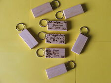 Personalised SYCAMORE Keyrings with design-,HAND MADE £2.30each INC POSTAGE