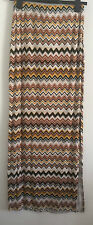 Ex NEW LOOK Size 8-20 Tribal Colour Zig Zag Print Holiday Split Side Maxi Skirt