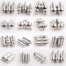 10Pcs Magnetic Silver Plated Clasps Hooks Jewelry Making Finding 17Styles Pick