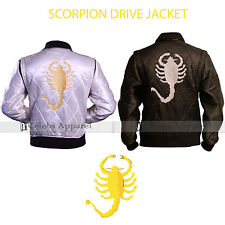 Scorpion Drive Mens Trucker Ryan Gosling Movie Satin Jacket