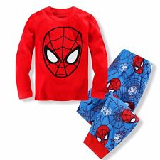 Spiderman Boys Toddler Kids Pajamas Sleepwear Long sleeve Pyjamas Costume Set