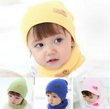 Unisex Cotton Beanie Hat For Kid Child Baby Boy/Girl Soft Toddler Cap With Scarf