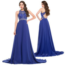 STOCK Long Prom Gown Ball Cocktail Evening Formal Party Wedding Bridesmaid Dress