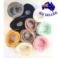 SKINNY 50 Pieces - WHOLESALE elastic baby nylon headbands, one size fits all