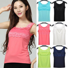 Sexy Women Ladies Lace Collar Tank Tops Blouse Casual Sleeve​less T-Shirt Vest