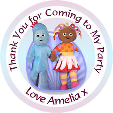 Personalised In the Night Garden 37mm Birthday Stickers Thank You Seals - L1180