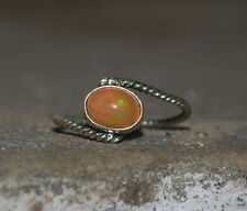 Natural Ethiopian Welo Fire Opal 925 Sterling Silver Wholesale Ring Jewelry