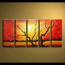 Large Contemporary Wall Art Floral Painting Plum Blossom Gallery Wrapped