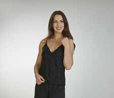 Black Lace Cami with Matching Loose Fit Jersey Trousers - S/M/L/XL