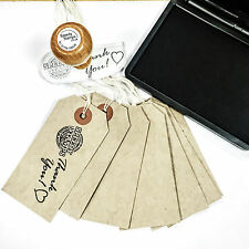 PAPER GIFT TAGS 100 PAPER TAG STAMP KIT, RUBBER STAMP, CRAFT STAMPS, GIFT TAGS