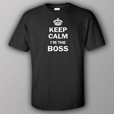 Funny T-shirt KEEP CALM I AM THE BOSS manager supervisor project director