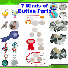 """7 Kinds 2-1/4"""" 58MM Badge Button Parts Material for Maker Machine Pin Back"""