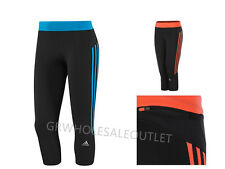 Adidas WOMENS Performance Response 3/4 Running Tights Capri Climalite#GR11