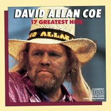 "DAVID ALLAN COE ""17 Greatest Hits"" new unopened sealed CD 17 songs"