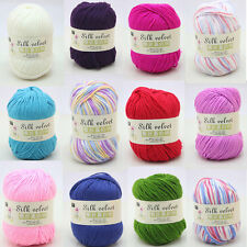 Worsted Super Soft Smooth Natural Silk Wool Baby Yarn For Knitting Sweater 50g