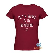 JUSTIN-BIEBER IS MY BOYFRIEND T SHIRT WOMENS JUSTIN BIEBER GRAPHICS TEE SHIRT