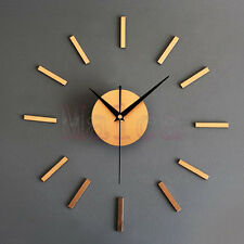 Metallic DIY Wall Clock Vintage Watch Home Decor Clocks  Novelty Gift
