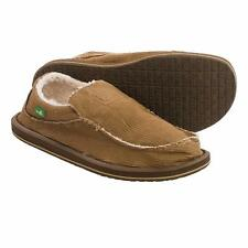 Sanuk Chiba Chill Shoes - Slip-Ons For Men Brown Waxed Cord NEW
