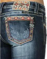 MISS ME MP8524S Sz 27+28+29 Color Embroidered Pocket Skinny Jean New tags B43J
