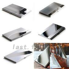 New Pocket Metal Business ID Credit Card Case Box Holder Stainless Steel