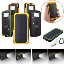 Solar Panel Waterproof Battery Power Bank Dual USB External Portable Charger