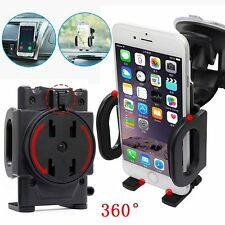 360°Car Windshield Dashboard Suction Cup Mount Holder Bracket For Cell Phone GPS
