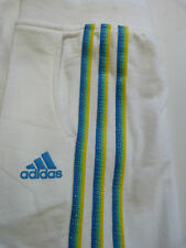 NEW GIRLS ADIDAS YG BQ KN CROPPED CAPRI BOTTOMS TROUSERS JOGGERS WHITE HOLIDAY