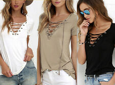 Cotton  Fashion  Pullover  Loose  Tops  Shirt Blouse  Short Sleeve  Womens