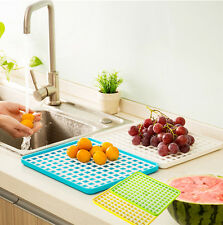 1 PCS Double Shelf Tray Fruit Bowl Rectangular Plate Drop Tray Tea Tray