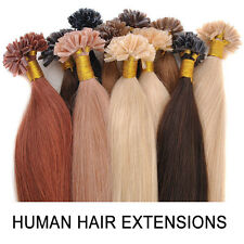 Fusion Pre Bonded Nail/U Tip Remy Real Human Hair Extensions Straight 100S 16-26