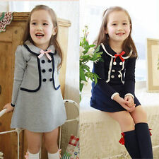 Cute Kids Baby Girls Summer Party Dress Toddler Holiday Clothes Dresses 2-8 T