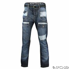 Peviani Mens Boys Time is Money Dark Blue Wash Star Straight Fit G Style Jeans