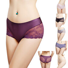 New Sexy Lady Lace Comfy Seamless Mid Waist Panties Briefs Underwear Underpants