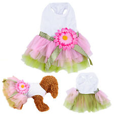 Cute Puppy Pets Small Dog Cat Summer Clothes Vest Apparel Costume Princess Dress
