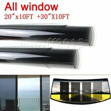 "2PLY All Windows 20"" x 10FT + 30""x118"" Car Window TINT TINTING Film Vinyl Roll"