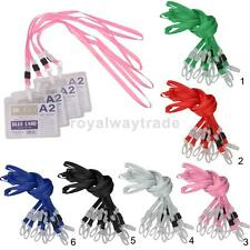 10x Lanyard ID Badge Keys Phone Neck Strap Clasp Lobster Hook Plastic Office