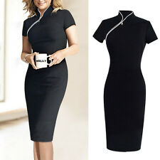 Women Lady Business Work Slim Bodycon Summer Cocktail Party Evening Pencil Dress