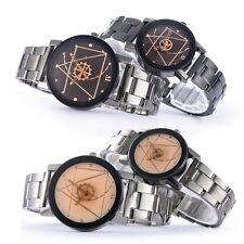 New Couple Fashion Compass Stainless Steel Quart Wrist Watch Men and Women