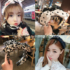 Fashion Korean Style Rabbit Bunny Ears Ribbon Scarf Hair Tie Wrap Bow Headband W