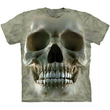 BIG FACE SKULL T-Shirt The Mountain Skeleton Head Death Tee S-3XL NEW