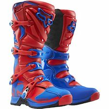 NEW FOX RACING RED BLUE MENS ADULT 2016 COMP 5 MOTOCROSS MX ATV BOOTS RIDING