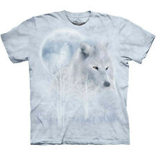 WHITE WOLF MOON T-Shirt by The Mountain Howling Wolves Winter Snow S-3XL NEW