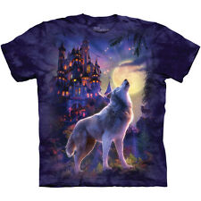 WOLF CASTLE T-Shirt by The Mountain Fantasy Wolves Howling Moon Howl S-3XL NEW