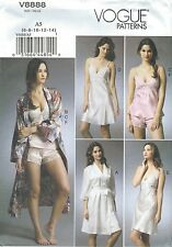 Vogue 8888 Misses' Robe, Camisole, Slip and Panties   Sewing Pattern