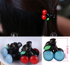 Lovely Bow Girl Cherry Hair Accessories Fashion Clips Hairpin Headdress