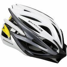 Boardman Pro Carbon Road Bike MTB Mountain Bicycle Helmet 22 Vents Yellow/ White