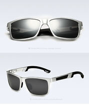 Aluminium Polarized Sunglasses Retro Mirrored Driving Eyewear Shades